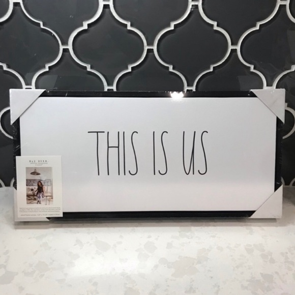 """🤍Rae Dunn🤍 """"This Is Us"""" home decor sign"""